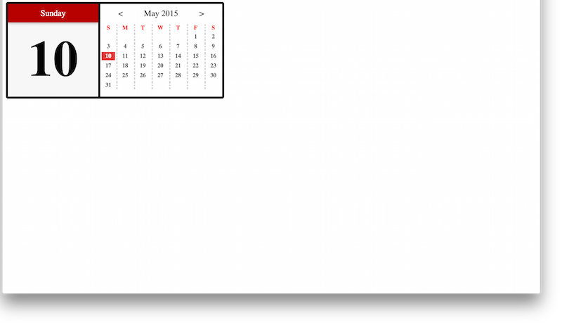 Full Website - JavaScript Calendar